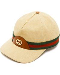 Gucci Baseball Hat With Web - Natural