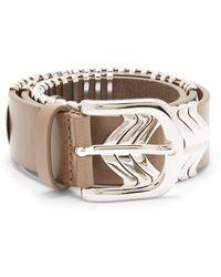 Isabel Marant Tehora Embellished Leather Belt - Natural