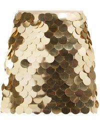 Sara Battaglia Sequinned Mini Skirt - Metallic