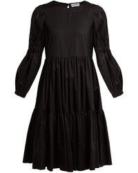 Molly Goddard - Tiered Cotton-twill Dress - Lyst