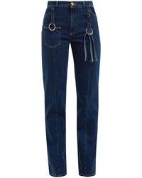 See By Chloé Braided Straight-leg Jeans - Blue