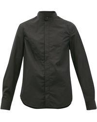 WARDROBE.NYC Wardrobe. Nyc リリース 05 バンドカラー コットンポプリンシャツ - ブラック