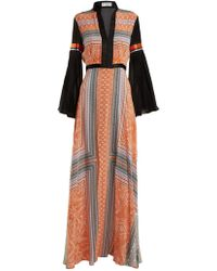 Amanda Wakeley - Printed Crepe De Chine Maxi Dress - Lyst