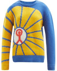 The Elder Statesman Prayers For Young People Abstract Cashmere Sweater - Multicolour
