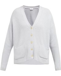 Allude - Oversized Ribbed Cashmere Cardigan - Lyst