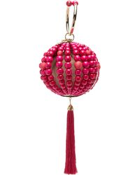 Rosantica By Michela Panero - Billie Beaded Tassel Drop Clutch Bag - Lyst