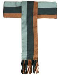 Etro - Striped Tassel End Silk Belt - Lyst