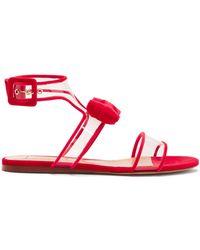 Valentino - Dollybow Bow-embellished Velvet Sandals - Lyst