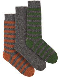 Howlin' By Morrison Pack Of Three Merino-blend Socks - Gray
