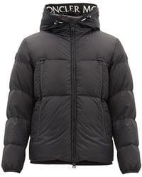 Moncler Montcla Logo-lined Down-filled Hooded Coat - Black