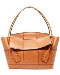 Bottega Veneta The Arco Large Intrecciato Leather Bag - Brown