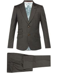 Gucci Heritage Logo-print Wool Suit - Gray