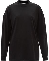 The Row ドロナス コットンロングスリーブtシャツ - ブラック