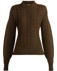 Cecile Bahnsen - Sol Open-back Wool-blend Sweater - Lyst