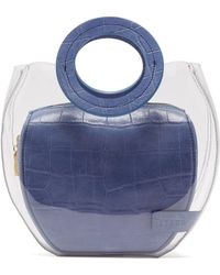 STAUD Frida Leather & Pvc Tote Bag - Blue