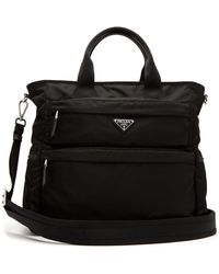 52406d17081c Lyst - Prada Black Nylon Zip Large Duffel Bag in Black for Men