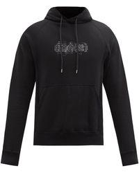 TAKAHIROMIYASHITA TheSoloist. Doe-print Cotton-jersey Hooded Sweatshirt - Black