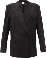 Vetements Double-breasted Wool-blend Jacket - Black