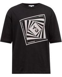 Y-3 - プリント コットンtシャツ - Lyst
