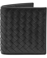 Bottega Veneta Intrecciato Bi-fold Leather Wallet - Black