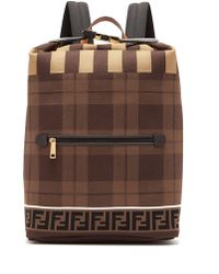 Fendi - Ff Technical Knit Backpack - Lyst