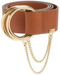 Chloé - Gold-hoop Leather Belt - Lyst