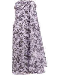 Halpern - Robe en organza en fil coupé lamé drapée - Lyst