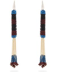 Isabel Marant - Bead-embellished Tassel-drop Earrings - Lyst
