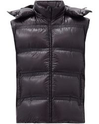 5 MONCLER CRAIG GREEN Harold Hooded Down Quilted Gilet - Black