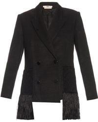 Edun - Wool-twill Fringed Blazer - Lyst