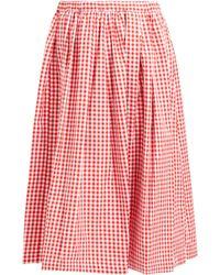 Comme des Garçons - Gingham Cotton Midi Skirt - Lyst