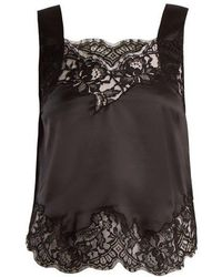 Givenchy - Lace-trimmed Silk-satin Cami Top - Lyst