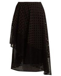 Sportmax - Nabulus Eyelet-lace Asymmetric Skirt - Lyst