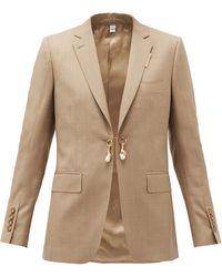Burberry - パールフロント ウールカシミア シングルジャケット - Lyst