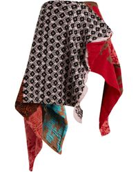 MATTY BOVAN - Asymmetric Patchwork Skirt - Lyst