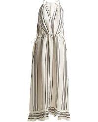 Apiece Apart - Himalaya Striped Linen And Silk-blend Dress - Lyst