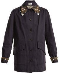 Acne Studios - Josebe Bead-embellished Cotton Jacket - Lyst