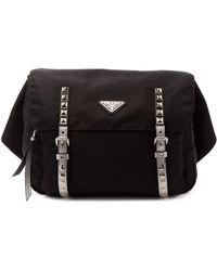 Prada New Vela Nylon Belt Bag - Black