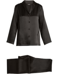 La Perla Ensemble de pyjama en satin de soie - Noir