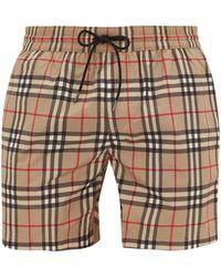 Burberry Checked Swim Shorts - Multicolour