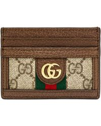 Gucci - Ophidia Gg Plaque Leather Cardholder - Lyst