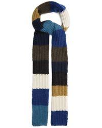 Marni カラーブロック モヘアブレンド スカーフ - ブルー