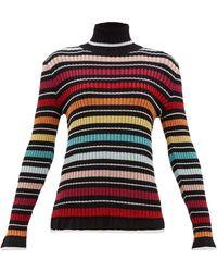Mary Katrantzou - ボーダーラメ タートルネックセーター - Lyst