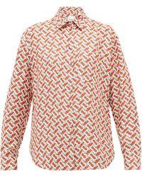 Burberry - Tbプリント シルクサテンシャツ - Lyst