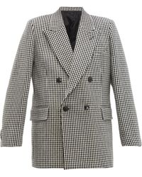 AMI Houndstooth Double-breasted Wool Blazer - Multicolour