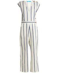 M.i.h Jeans - Elm Striped Stretch-cotton Jumpsuit - Lyst