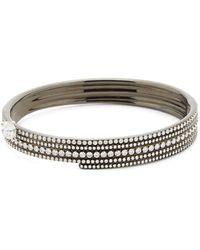 Repossi ブラスト ダイヤモンド 18kブラックゴールドカフブレスレット - マルチカラー
