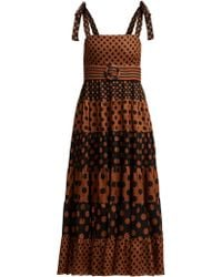 Zimmermann - Juno Spotted Belted Dress - Lyst