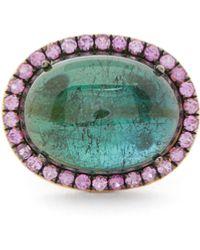 Rosa De La Cruz Tourmaline, Sapphire & 18kt Gold Ring - Multicolour