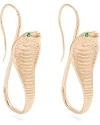 Jade Jagger - Emerald & Yellow-gold Earrings - Lyst